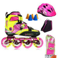 RX3CC轮滑鞋 儿童溜冰鞋碳纤平花鞋教学轮滑鞋