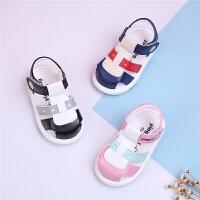儿童凉鞋0-1-3岁夏季男女宝宝凉鞋软底学步鞋叫叫鞋