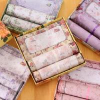 韩版可爱花朵彩色信纸 优雅盒装精美信封 绚美信纸信封