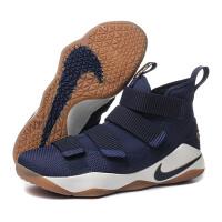 NIKE耐克篮球鞋2017新款男鞋詹姆斯战士11 缓震防滑运动鞋897645