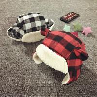 宝宝帽子1-2岁冬季加绒护耳帽东北保暖帽婴儿帽子6-12-24个月韩版