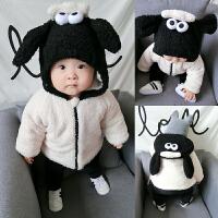 婴儿外套装男童秋装春秋装加绒加厚婴幼儿女童洋气宝宝0岁1卫衣服