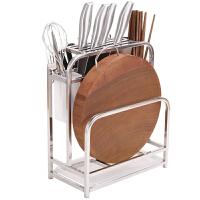 刀架厨房用品不锈钢刀具砧板菜刀架放菜板架刀座家用案板置物架 加粗加厚(赠4个挂钩)