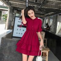 安妮纯雪纺连衣裙2020新款夏季流行夏天裙子小个子裙子仙女超仙森系学生