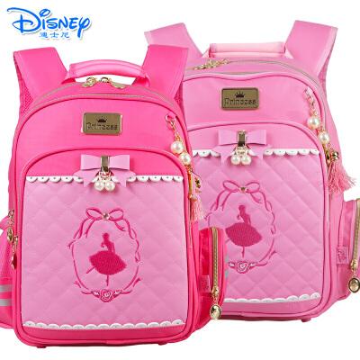 迪士尼公主1-3年级小学生儿童双肩背包护脊减负卡通书包TGPB0047