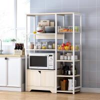 【一件3折】加厚环保厨房置物架落地柜 多层微波炉架家用组装经济型收纳柜碗柜储物柜子