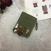 钱包女短款ins韩版学生钱夹新款可爱小清新折叠个性零钱包潮