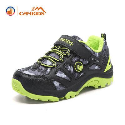 CAMKIDS儿童鞋2017秋季新款男童登山鞋中大童休闲鞋户外透气尾品汇大促