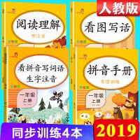 看拼音写词语生字注音+阅读理解+看图写话说话+拼音手册一年级上册人教部编版