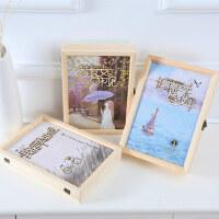 复古木盒同学录创意镂空活页小学生毕业纪念册唯美个性大容量盒装