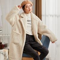 [直降]唐狮冬装原宿韩版新款毛呢外套女宽松流行东大门