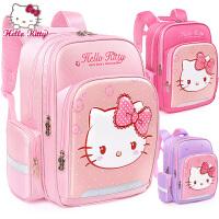 凯蒂猫可爱小学生书包一二三1-2-3年级减负HELLO KITTY轻便双肩包大童女孩背包7-10岁女生女童