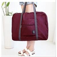旅行单肩包男女大容量整理袋衣物折叠行李箱挂包行李包登机旅行袋 大