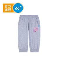 【秒杀叠券预估价:18.9】361度女童针织七分裤 夏季新款K61823535