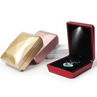 带led灯发光求婚戒指钻戒盒项链盒吊坠珠宝首饰包装饰品盒子 量大优惠 支持定制