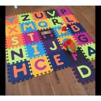 加厚爬行垫拼接婴儿童字母拼图爬爬垫防滑宝宝游戏垫 普通包装彩色字母垫 1.4米*1.4米(26片一套