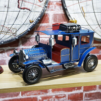 ????创意美式复古家居装饰品摆件电视柜酒柜摆设铁皮老爷车模型旅行车