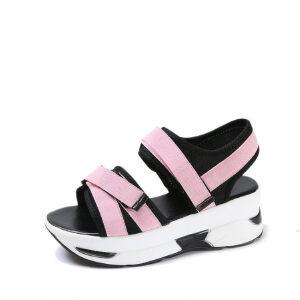 O'SHELL法国欧希尔新品060-166韩版超纤皮松糕底女士凉鞋