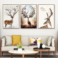 客厅装饰画现代简约大气三联画家居北欧ins挂画壁画沙发背景墙画