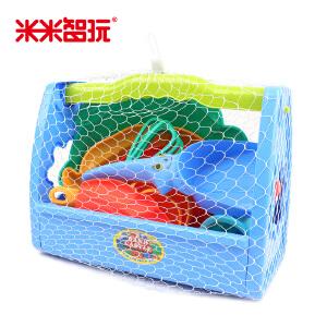 【领券立减50元】儿童沙滩玩具套装海底动物系列35件装 宝宝大号玩沙子工具沙漏挖沙戏水小桶活动专属