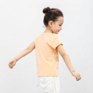 【尾品汇 5折直降】amii夏季女童休闲T恤大童直筒版型舒适上装儿童可爱印花圆领短袖