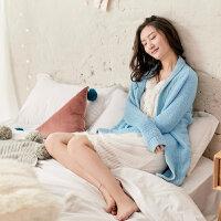 茵曼内衣 舒适系带糖果色保暖睡衣家居服女生冬款 98744830444