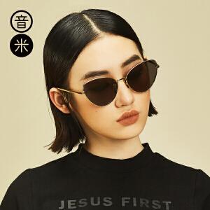 音米新款时尚猫眼明星同款猫眼太阳镜女墨镜女潮 个性复古眼镜 AASAJY203