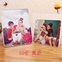 韩式相框摆台7寸6寸8寸七寸10寸婚纱照片创意简约儿童宝宝照片框 10寸 简爱 (含洗相片)