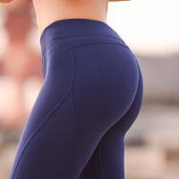 蜜桃运动裤翘提臀紧身跑步裤瑜伽九分健身长裤女性感速干弹力美臀