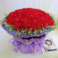 ????520情人节上海同城鲜花速递33朵香槟玫瑰鲜花礼盒生日送花订花市区配送 喜迎国庆