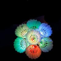 荧光耐打夜光带灯发光发亮羽毛球夜用打不烂塑料羽毛球
