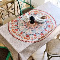 欧式茶几餐桌布民族风正方形客厅波西米亚怀旧长方形复古桌布布艺T
