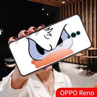 米奇唐老鸭oppoReno手机壳oppo re0倍变焦版玻璃保护套卡通欧美网红简约0pp0十倍 reno-老鸭(玻璃壳
