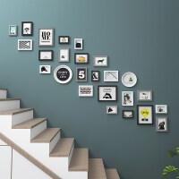 楼梯照片墙相框墙挂墙创意组合楼道走廊背景墙墙面装饰墙壁相片框