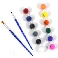 儿童绘画颜料3ml5ml六联体DIY手工丙烯颜料幼儿园美术diy材料12色