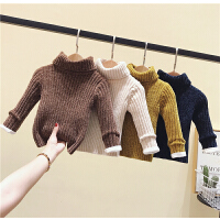 儿童秋冬装高领毛衣男女童宝宝针织套头小童打底衫
