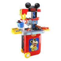 迪士尼儿童米奇维修工具箱宝宝益智玩具男孩仿真工作桌修理台礼物