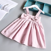 女童吊带连衣裙夏季新款韩国童装小宝宝百褶公主裙沙滩裙