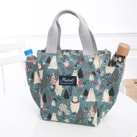 手提帆布妈咪包饭盒包韩版午餐便当包拎装饭盒袋的手提包