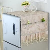 布艺欧式冰箱罩冰箱防尘罩海尔容声单开门双开门对开门冰箱巾盖布