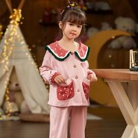 女童睡衣长袖儿童女孩宝宝公主家居服套装