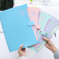 文件夹文件袋多层插页资料册试卷夹子风琴包A4学生用办公文具定制
