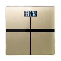 电子称精准人体秤家用体重秤称重称体重计USB充电可选 十字 金 - 7号电池