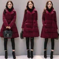 棉衣女中长款201冬季女装学生外套A字版韩版7软妹小棉袄