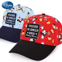 迪士尼儿童帽子2-4-8岁1宝宝帽子春秋夏男童鸭舌帽棒球帽太阳帽潮