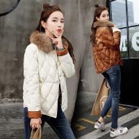 轻薄款小棉衣女冬季新款韩版修身小个子短款百搭棉袄外套