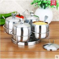实用美观精致4件套调味料罐子不锈钢调味料品罐厨房用品调味罐套装