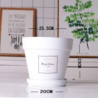 MimiHome 2u 黑白粉陶花盆北欧花盆工业气质陶土多肉绿植花器 中等