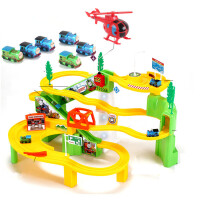 托马斯小火车套装轨道车电动玩具小汽车儿童玩具男孩3-4-5-6岁 B款:托马斯旋转轨道 充电[2组充电池+充电器](1