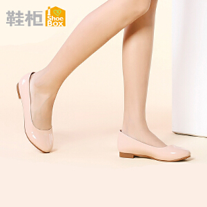 达芙妮旗下Daphne/鞋柜简约淑女低跟时尚套脚浅口单鞋